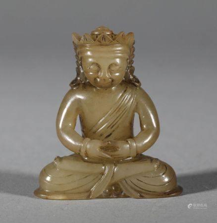 Yuan Dynasty - Hetian Jade Buddha