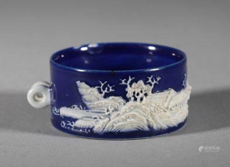 Qing Dynasty - Colored Bird Food Jar