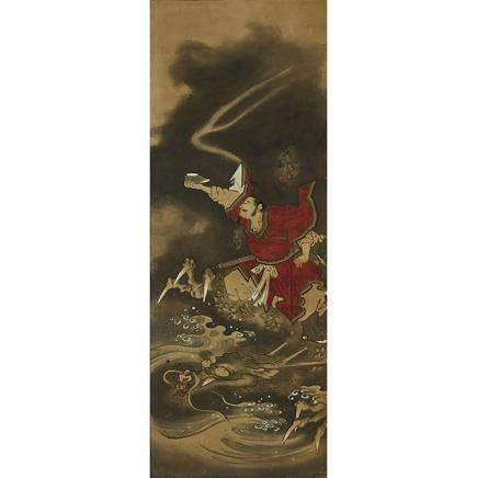 JAPANESE TOSA SCHOOL PAINTING, 17TH/18TH CENTURY 土佐派圖繪