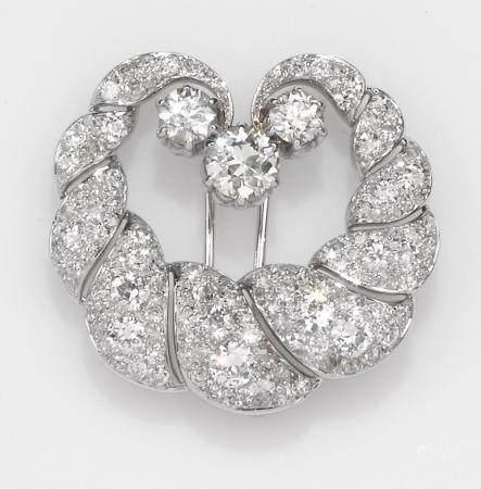 Clip con diamanti di vecchio taglio,