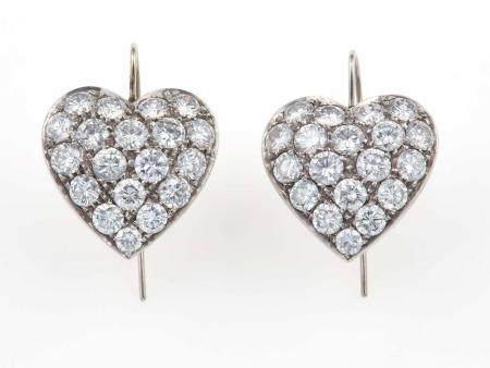 Orecchini con diamanti taglio brillante,