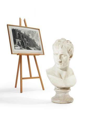 Monumentale Büste Napoleon I. Bonaparte als Mars Pacificus