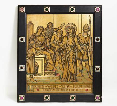 Kreuzwegstation Christus vor Pilatus