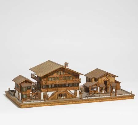 Modell eines Bauernhofs