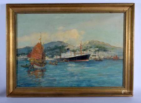 Frank Mason (1875-1965) Oil on canvas, SS Menelaus. Image 40 cm x 55 cm.