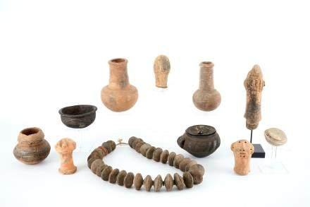 A collection of African pottery and archeology, various periods