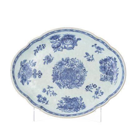 China porcelain oval platter, Qianlong