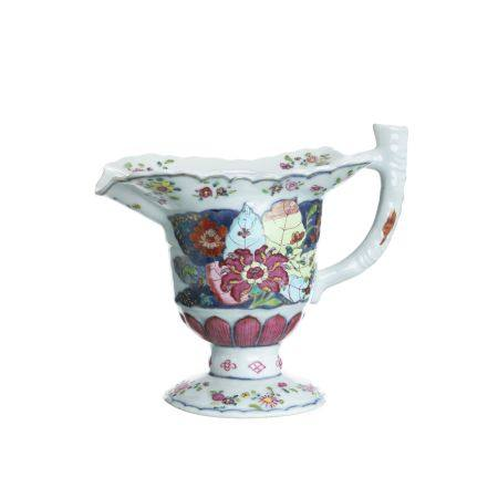 Sauceboat 'tobacco leaf' in Chinese porcelain, Qianlong