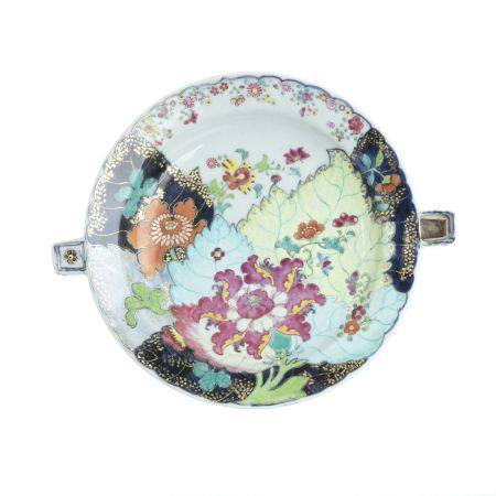 Rechaud Chinese Export porcelain 'Tobacco Leaf'