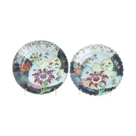 Pair of Chinese Export porcelain 'Tobacco Leaf'