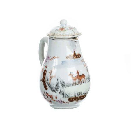 Chinese porcelain Meissen-style milk jug, Qianlong