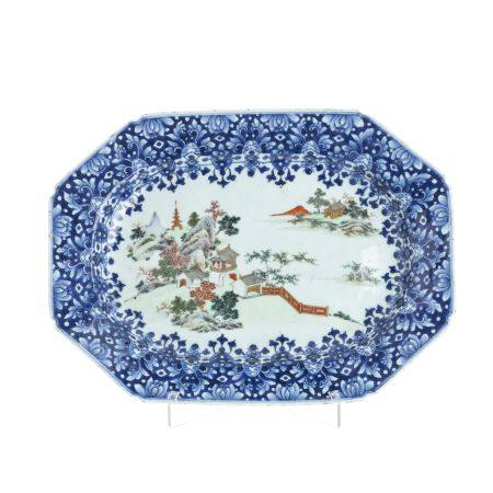 Chinese landscape 'platter', Qianlong