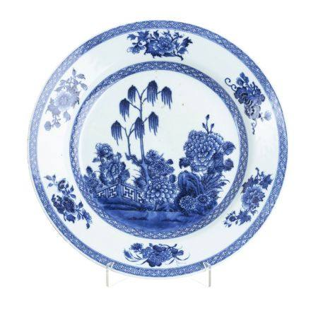 Chinese porcelain charger, Qianlong
