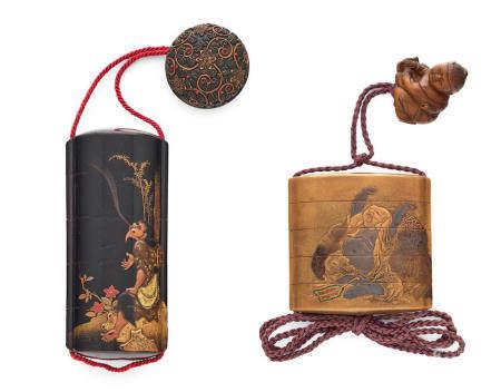 Two four-case lacquer inro Edo period (1615-1868), 19th century