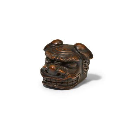A wood netsuke Edo period (1615-1868), 19th century