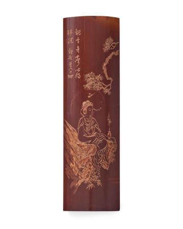 KANO TESSAI (1845-1925) A bamboo senbai (tea scoop)Taisho era (1912-1926), circa 1920