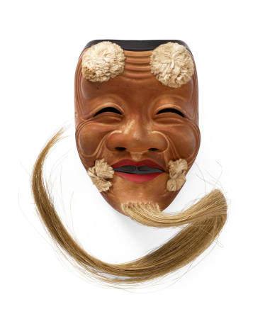 Kano Tessai (1845-1925) A Noh mask of OkinaMeiji (1868-1912) or Taisho (1912-1926) era, 19th/early 20th century