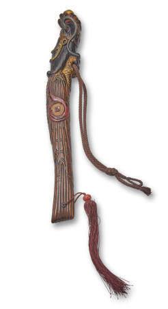 An unusual yatate (portable writing set) in bokuto (doctor's sword) form Edo period (1615-1868) or Meiji era (1868-1912), 19th century