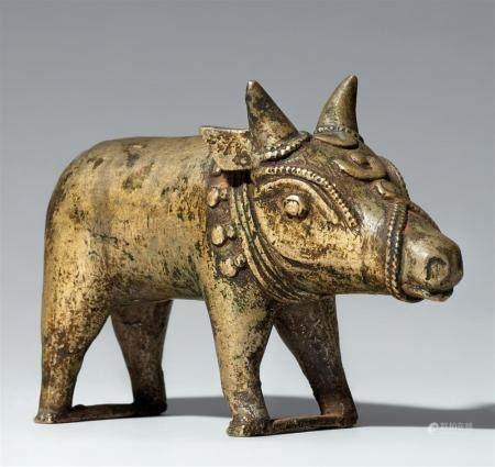A Tulu copper alloy figure of a boar. Southern India, Karnataka. 19th/20th century