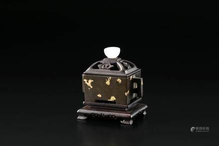 古铜玉摘香炉