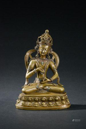 銅西藏金剛座像