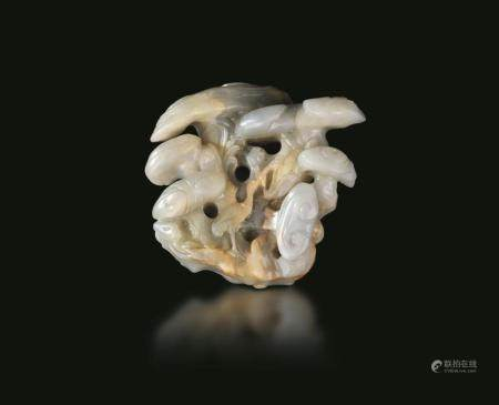 A jade and russet group, China, Song Dynasty
