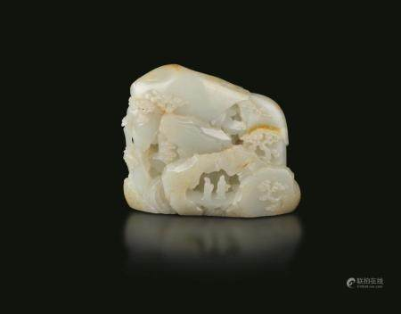 A carved jade mountain, China, Qing Dynasty