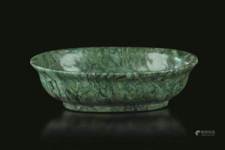 A malachite bowl, China, Qing Dynasty