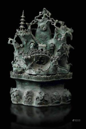 A bronze group, China, Ming Dynasty