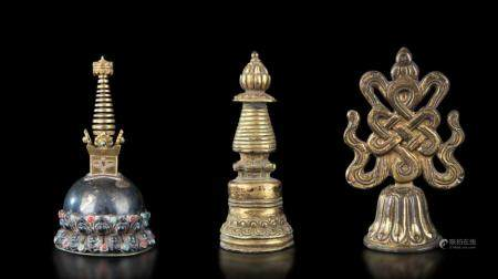 Three ritual items, Tibet, 1800s