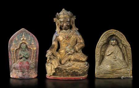 Three terracotta figures, Tibet, 1700s
