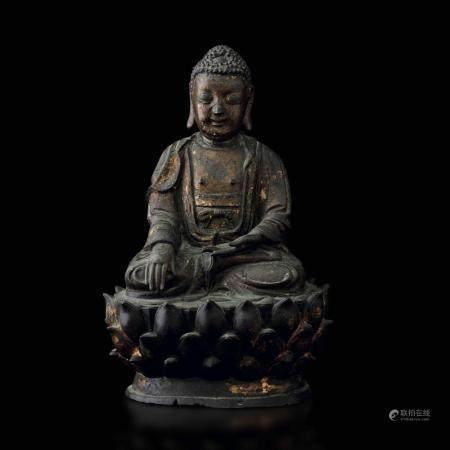 A bronze Buddha Sakyamuni, China, Ming Dynasty