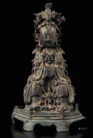 A bronze figure, China, Ming Dynasty