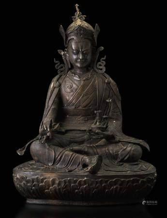 A bronze warrior, Buthan, 1700s