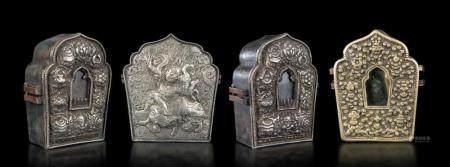 Four travel altars, Tibet, 1700s