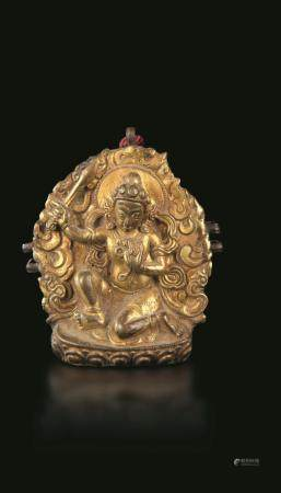 A bronze travel altar, Tibet, late 1600s