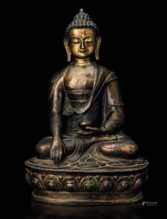 A bronze Buddha Sakyamuni, Tibet, 1600s