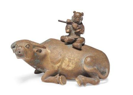 明 铜牧童骑牛水滴 MING DYNASTY (1368-1644)