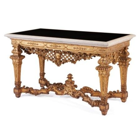 A NORTH ITALIAN GILTWOOD CENTER TABLE POSSIBLY TURIN, EARLY 18TH CENTURY, PROBABLY FORMERLY A SIDE TABLE