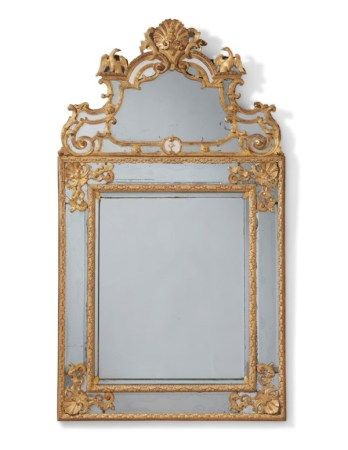 A REGENCE GILTWOOD MIRROR POSSIBLY EARLY 18TH CENTURY AND REBACKED