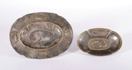 Song Dynasty - Pair of Silver Gilt Fish Pattern Cups