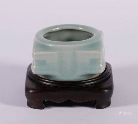Qing Dynasty - Colored Cong Shape Brush Wash