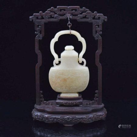 Qing Dynasty CHINESE JADE HANGING VASE