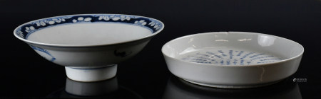 青花碗盤一組兩個