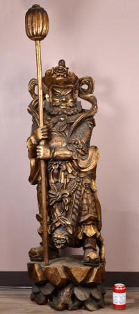 19世紀 木金漆金剛立像