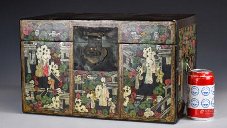 19世紀 畫人物漆箱