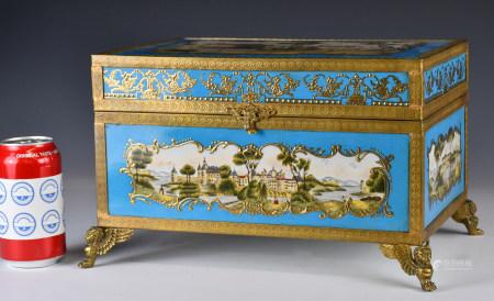 19世紀 琺瑯西洋首飾盒