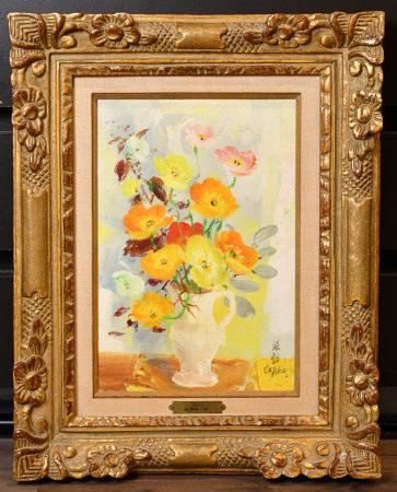 黎譜(1907-2001)油畫 帶芬得利畫廊鑒定證書