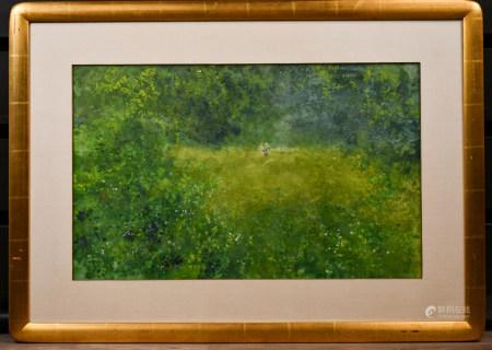 程及 (1912-2005)春 水彩 鏡框