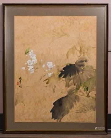 張書旂 (1900-1957) 花鳥 設色紙本 鏡心